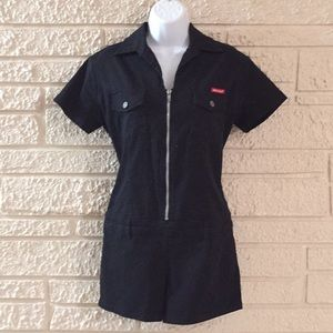 Dickies Zipper Front Drop Waist Romper